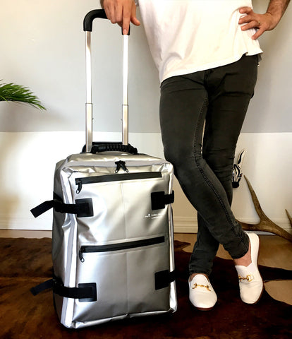 Hideo Wakamatsu Tarpaulin Carry-On Silver
