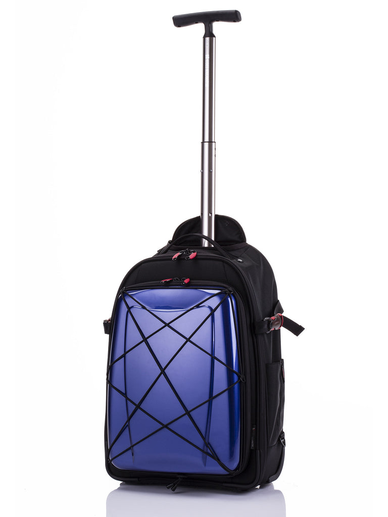 Hideo Wakamatsu Hybrid 2-Way Gear Carry-On Blue