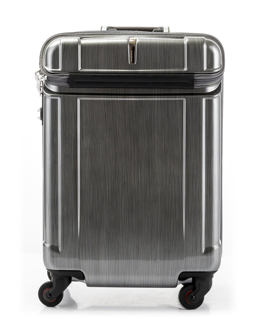 Hideo Wakamatsu Open Top Carry-On Silver
