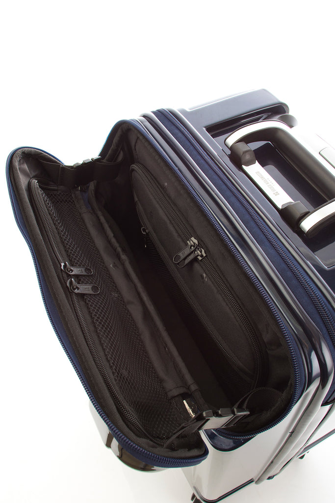 Hideo Wakamatsu Open Top Carry-On Navy