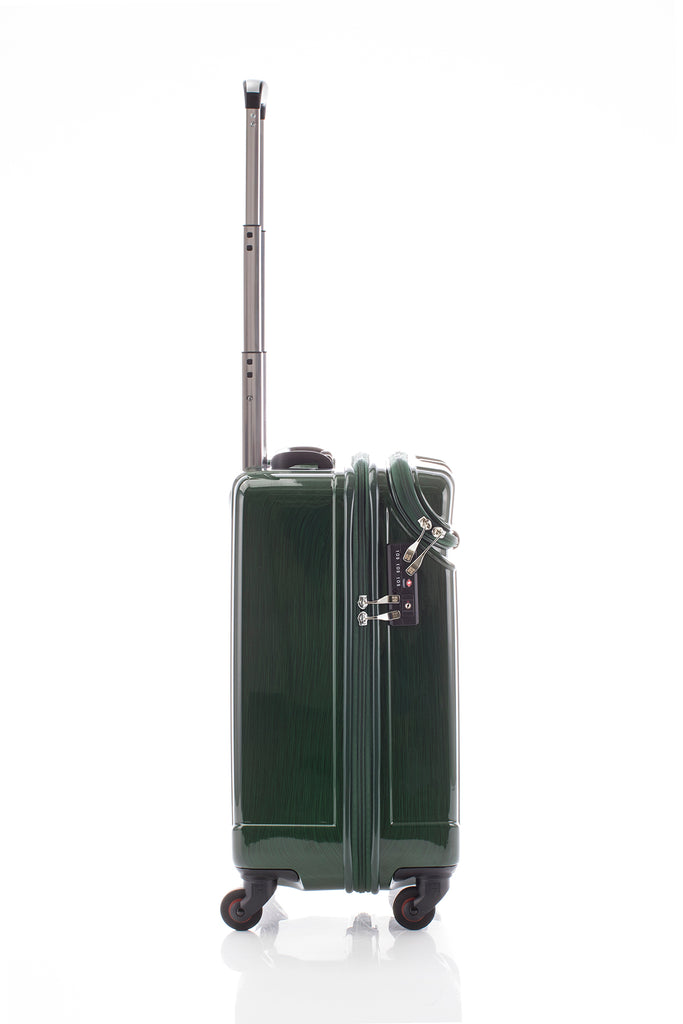 Hideo Wakamatsu Open Top Carry-On Green
