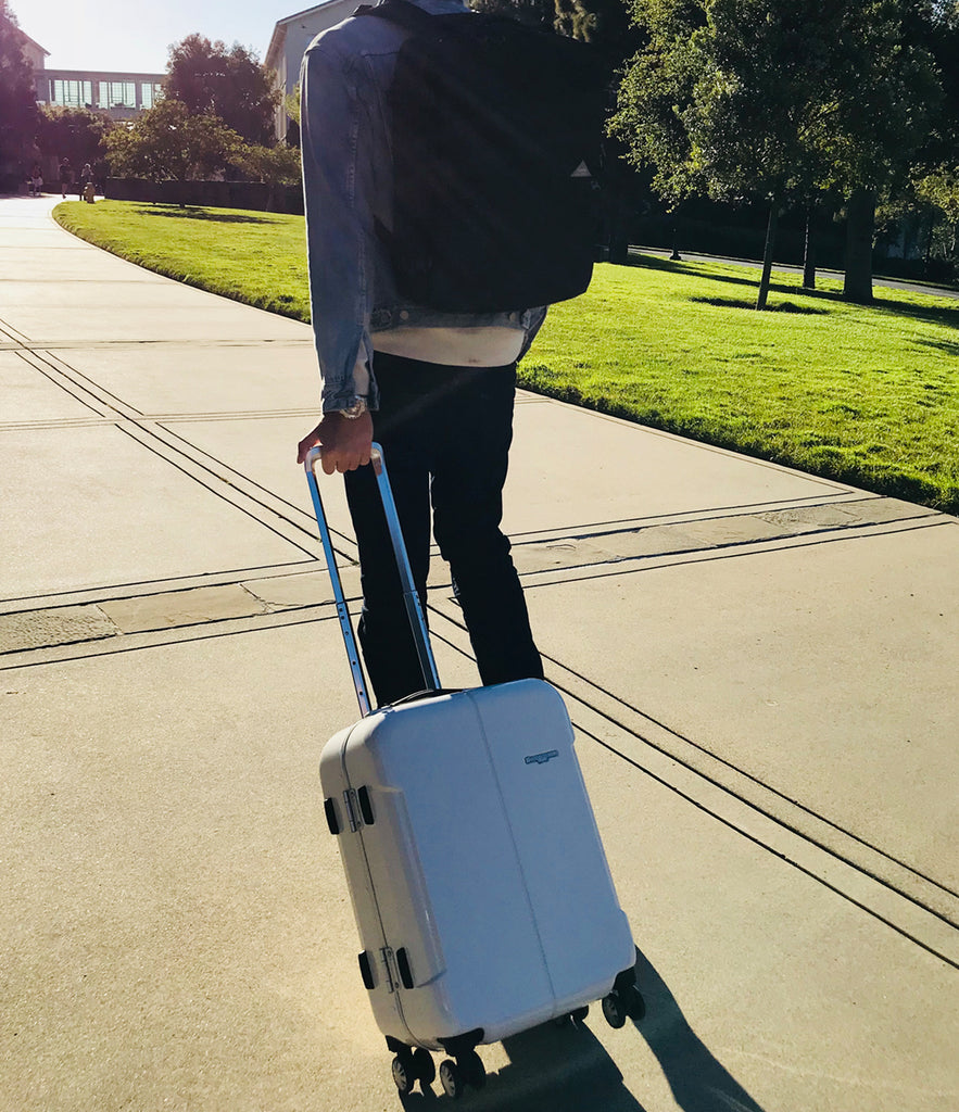 Hideo Wakamatsu Narrow Carry-On White