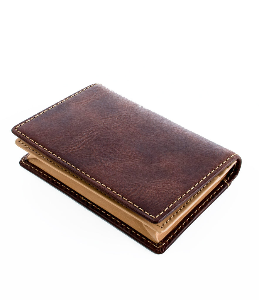Hideo Wakamatsu Kip Card Case Brown