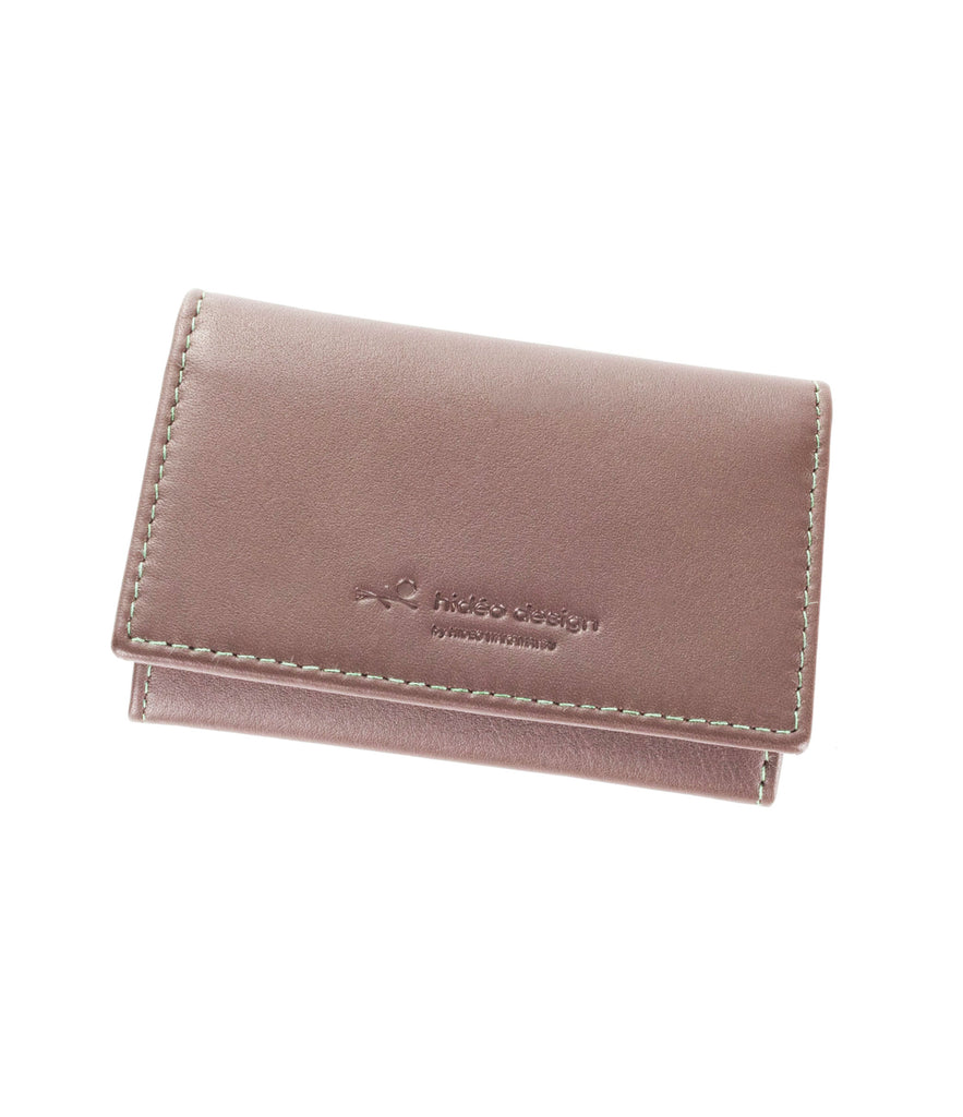 Hideo Wakamatsu Tac Card Case Brown