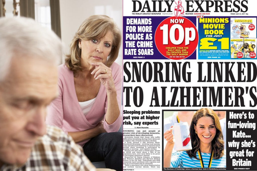 FACT: Snorers are much more likely to suffer from Alzheimer's and dementia