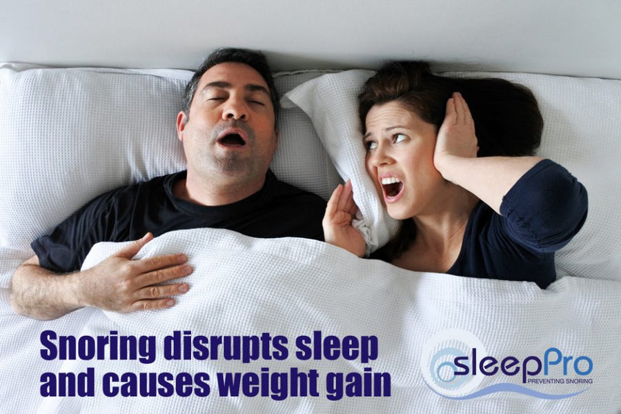 Lack of sleep makes you put on weight and that makes you snore