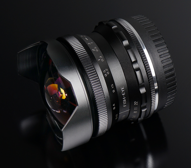 PERGEAR 7.5mm F2.8 fish eye Manual Focus Fixed Lens