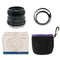 Pergear 50mm F1.8 Manual Focus Prime Fixed Lens for Sony E-Mount, M4/3 Mount, Fuji X-Mount Mirrorless Cameras