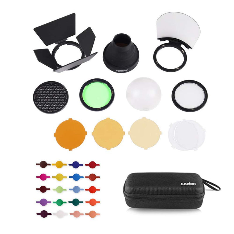 Godox AK-R1 Accessories Kit with PERGEAR Color Effect Gel Kit