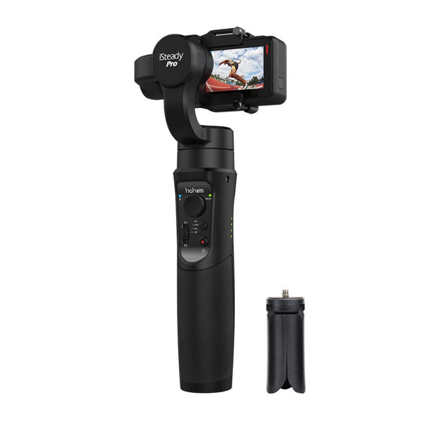 Hohem iSteady Pro 3-Axis Handheld Gimbal for Gopro Hero 7 6 5 4 3, Sony RXO, SJCAM, YI Cam - with PERGEAR Extension Rod Stick and Cleaning Cloth
