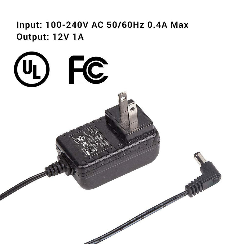 Pergear DC 12V 1A Switching Power Supply Adapter