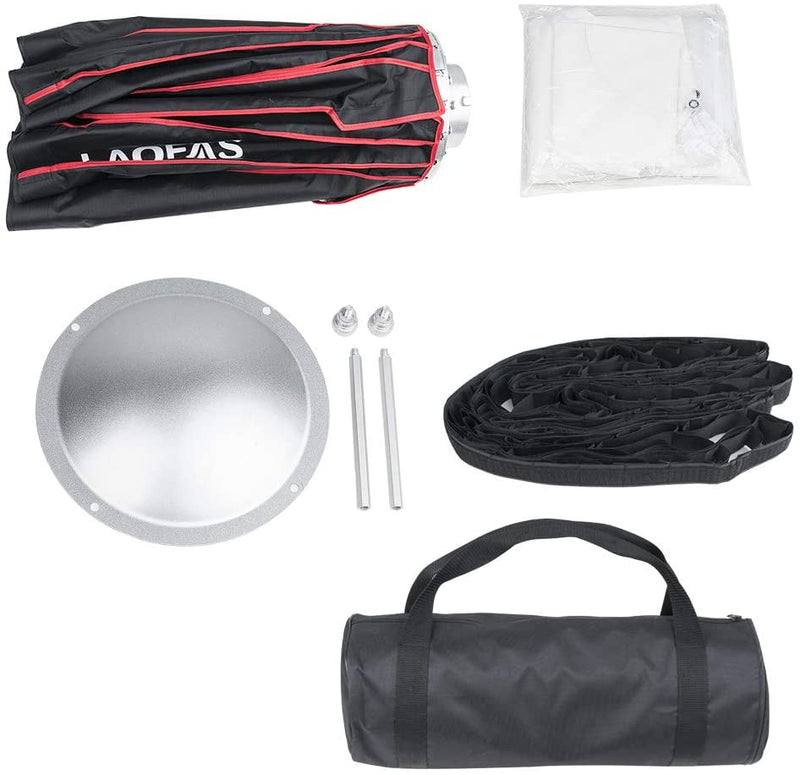 LAOFAS Collapsible Beauty Dish Reflector, Bowens Mount