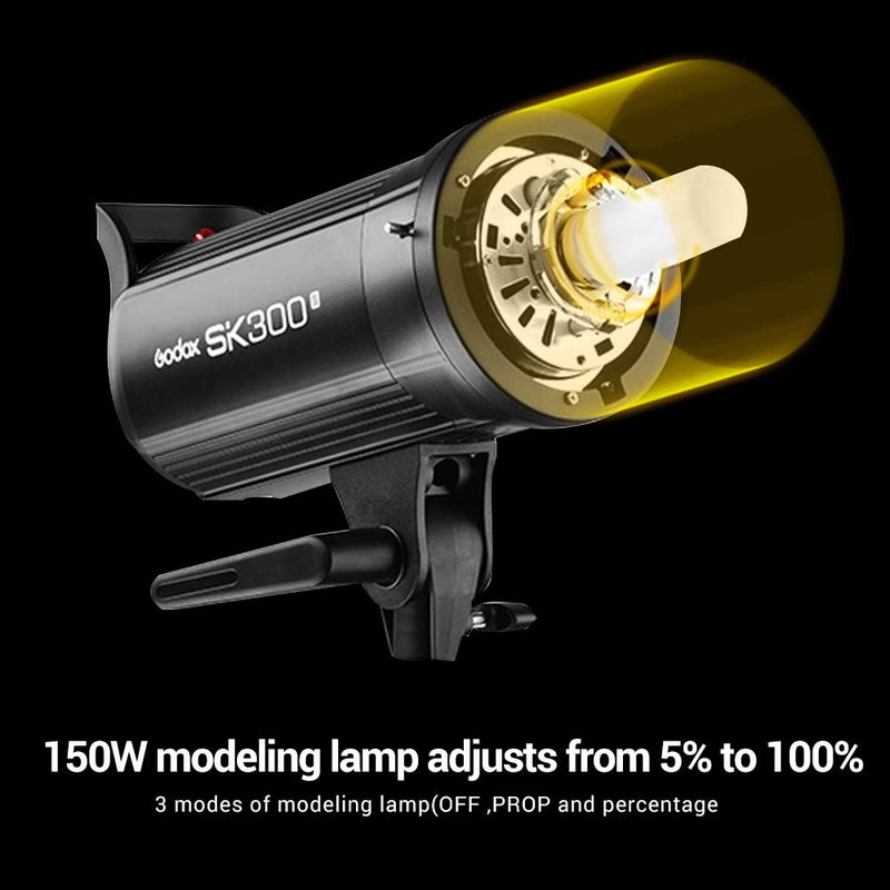 Godox SK300II Studio Strobe 300W with Bowens Mount