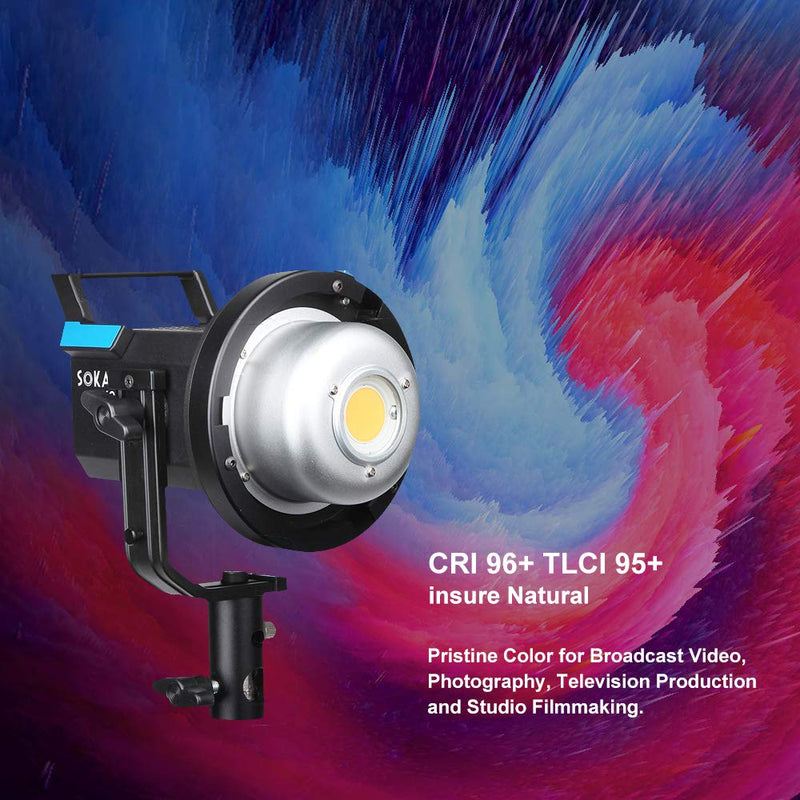 Sokani X60 Version 2 Updated LED Video Light 80W 5600K Daylight Balanced CRI96+ TLCI 95+ 5 Pre-Programmed Lighting Effect Wirelessly Adjust Brightness Bowens Mount