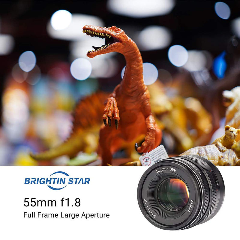 Brightin Star 55mm F1.8 Full Frame Manual Fixed Lens