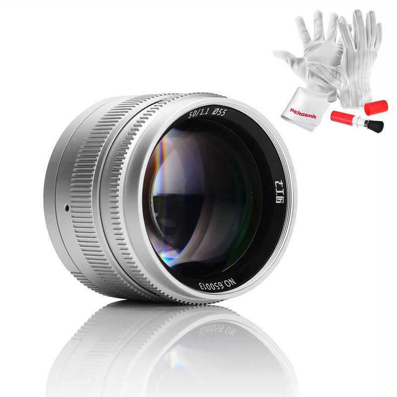 7artisans 50mm F1.1 Fixed Lens for Leica M-Mount Cameras Like Leica M2 M3 M4-2 M5 M6 M7 M8 M9 M10 M4P M9p M240 M240P ME M262 M-M CL