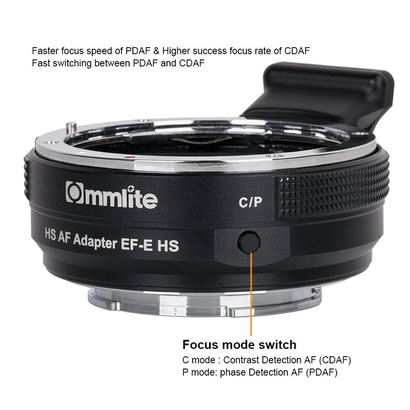 Commlite CM-EF-E HS High-Speed Electronic AF Lens Mount Adapter