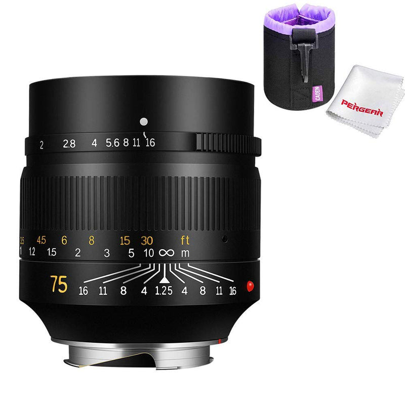 7artisans 75mm F1.25 Lens Full Frame Manual Fixed for Leica M-mount