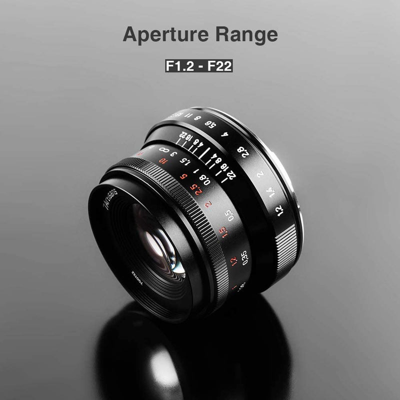 7artisans 35mm F1.2 Mark II Manual Focus Fixed Lens for Canon Cameras