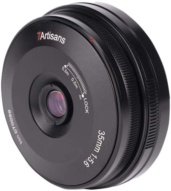 7artisans 35mm F5.6 Full-Frame Manual-Focus Pancake Lens for Sony Cameras