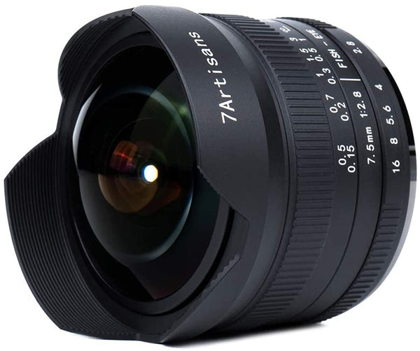 7artisans 7.5mm F2.8 II V2.0 APS-C Format Fisheye Lens for Sony E-mount Cameras