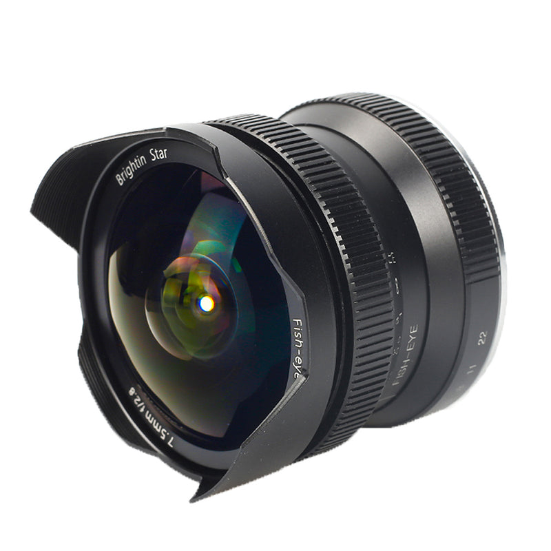 Brightin Star 7.5mm F2.8 APS-C Ultra-Wide Fisheye Manual Cameras Lens