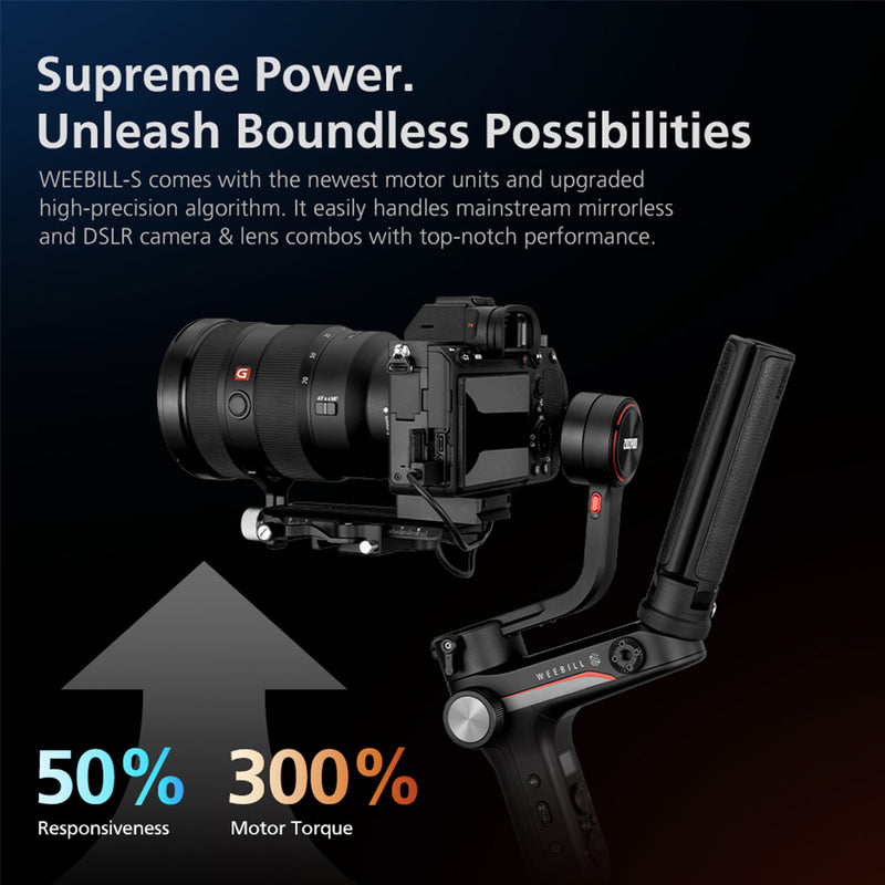 Zhiyun WEEBILL S 3 Axis Handheld Gimbal With Image Transmission+Focus Controller