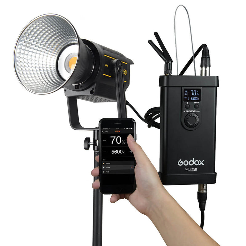 Godox VL150/200/300, LED Video Light with BD-04 Barndoor Kit