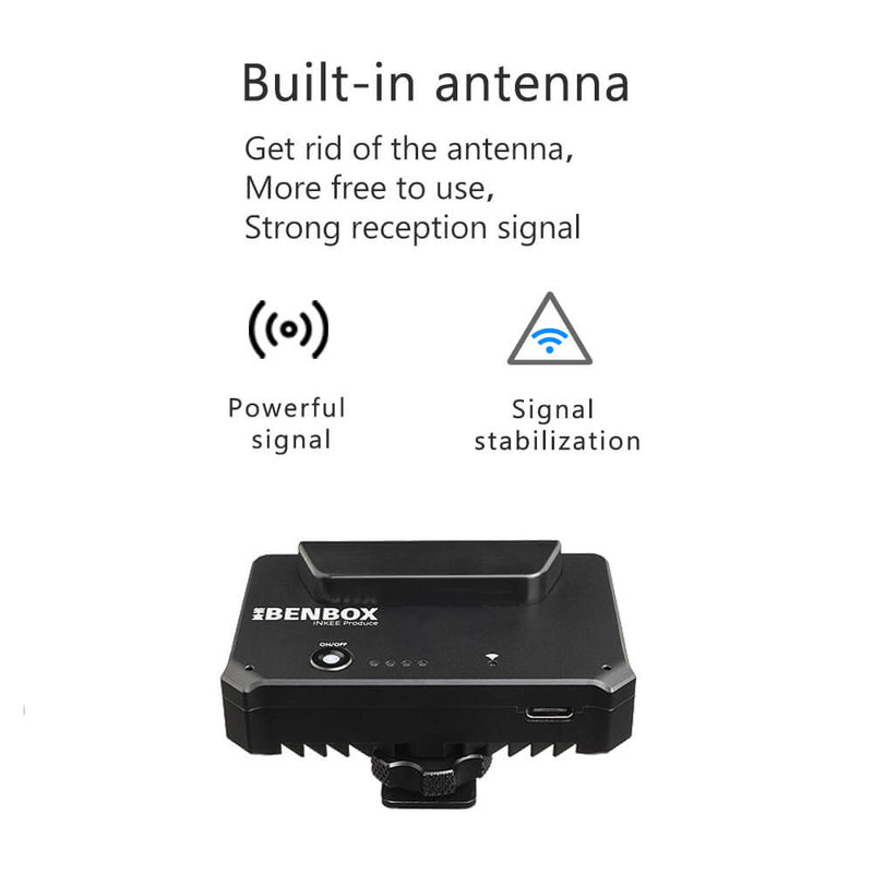 INKEE Benbox Video Transmitter, 2.4G/5G WiFi Wireless Live Transmission to 4 Devices, 1080p WiFi HDMI, 300ft Range, Supports Android/iOS/Windows/Mac, Incredibly Low Latency