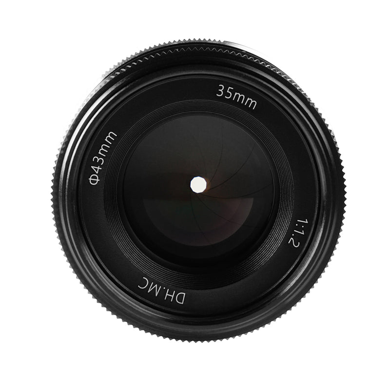 PERGEAR 35mm F1.2 Large Aperture Manual Focus Lens for Fuji/Sony/Nikon/Canon and M4/3 Mount Cameras