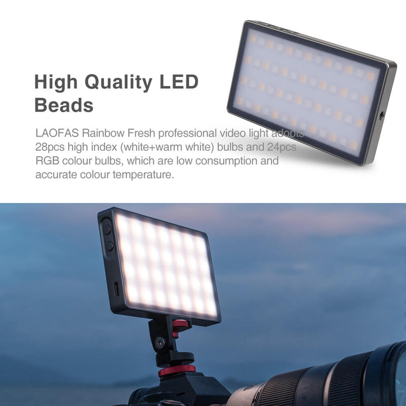 LAOFAS Rainbow Fresh Full Color RGB LED Video Light