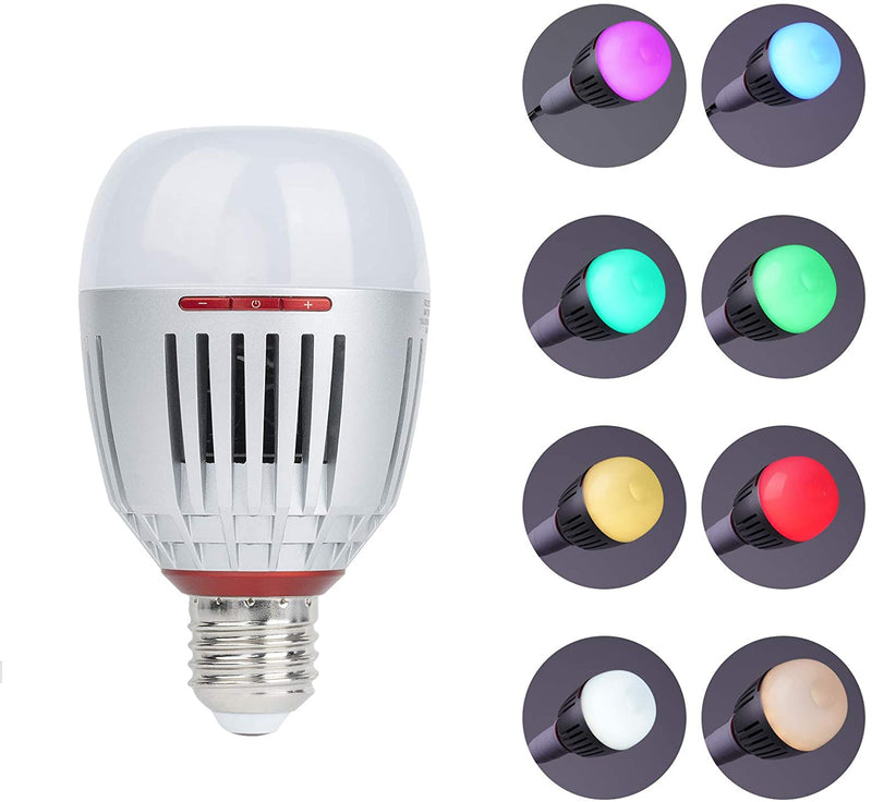 Aputure Accent B7C 7W RGBWW LED Smart Bulb, TLCI 96+ CRI 95+