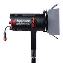 Aputure Light Storm 60d, 60W Daylight-Balanced Adjustable LED Video Light, CRI 95+ TLCI 95+ 50000lux @1m, Support App Control, Built-in 8 Lighting FX, Support NP-F970 Battery, Includes Barn Doors -- Pre-Order