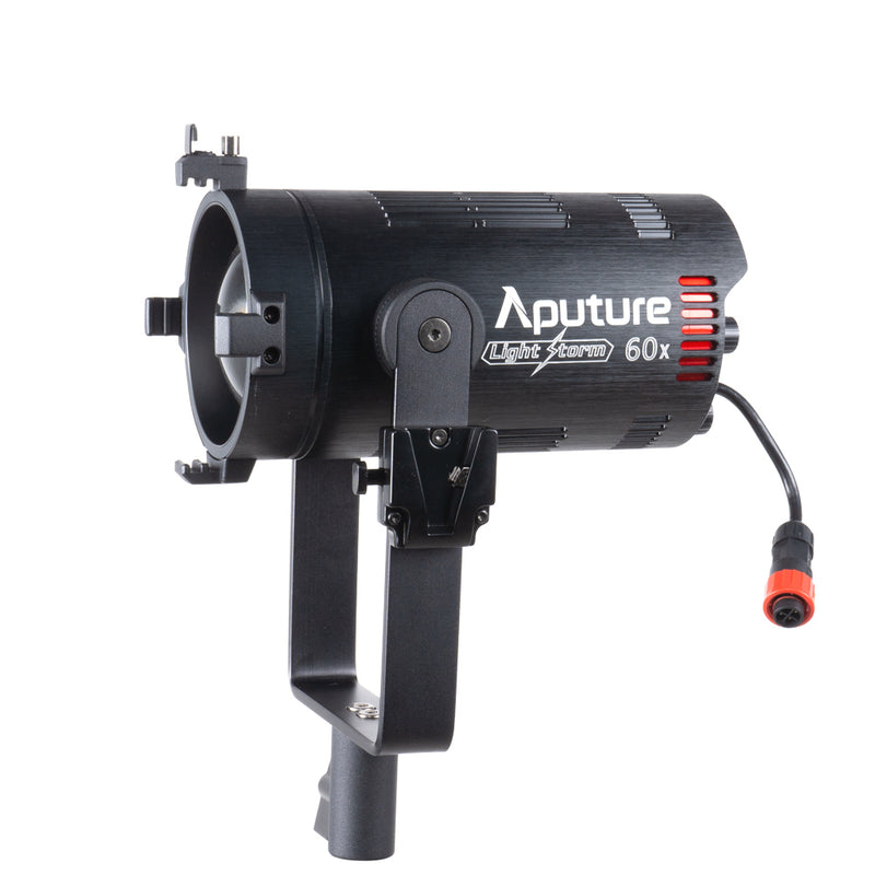 Aputure Light Storm 60x, 60W Bi-Color Adjustable LED Video Light, CRI 95+ TLCI 95+ 30000lux @1m, Support App Control, Built-in 8 Lighting FX, Support NP-F970 Battery, Includes Barn Doors -- Pre-Order