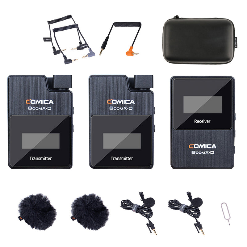 Comica BoomX-D D2 2.4G Digital 1-Trigger-2 Wireless Microphone