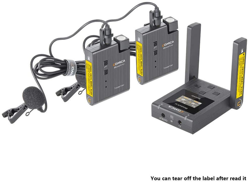 Comica BoomX-U U2 48-Channels Wireless Lavalier Microphone System