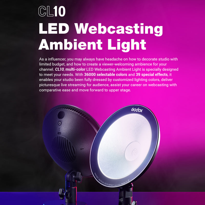 Godox CL10 LED Webcasting Ambient Light -- Pre-Order