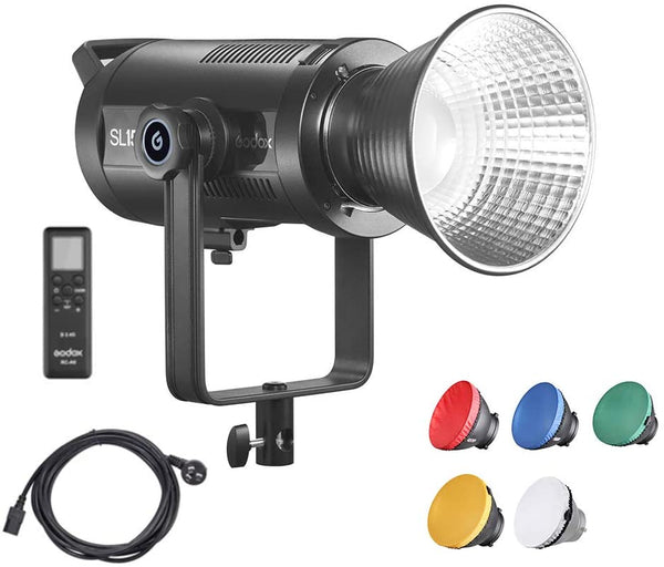 Godox SL150II Bi-Color LED Video Light, SL150BII 150W Bowens Mount Light, Built-in 9 Fx Effects, Color Temperature 2800k~6500k, W/Pergear Diffusers