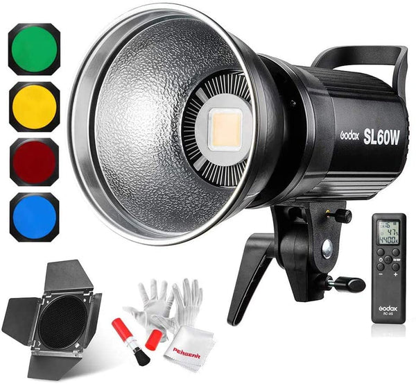 Godox SL-60W Led Continuous Video Light with BD-04 Barn Door