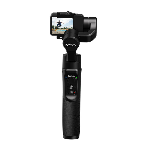Hohem iSteady Pro 2 3-Axis Handheld Gimbal, Water Splash Proof & Beveled Design Upgraded on 2019, for DJI Osmo Action, Gopro Hero 7 6 5 4 3, Sony RXO, SJCAM, YI Cam, W/PERGEAR Storge Bag Hohem 浩瀚 iSteady Pro2 升级款三轴运动相机稳定器