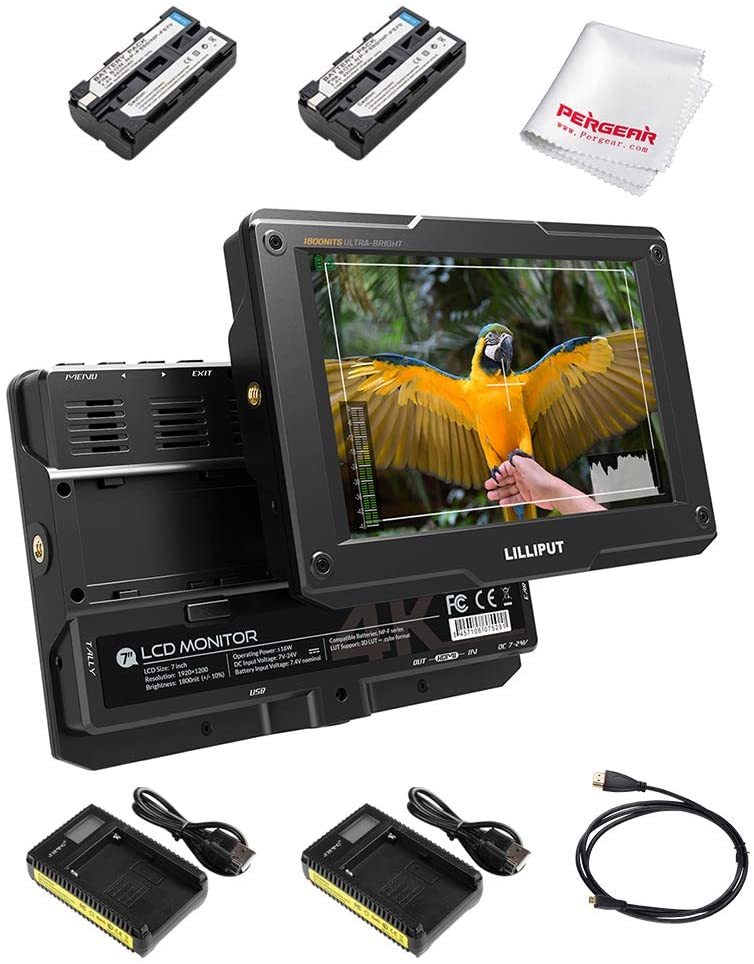 "Lilliput H7 7"" 4K HDMI HDR Camera Monitor"