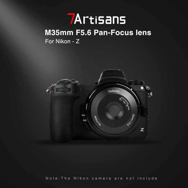 7artisans 35mm F5.6 Full-Frame Manual-Focus Pancake Lens for Nikon Cameras