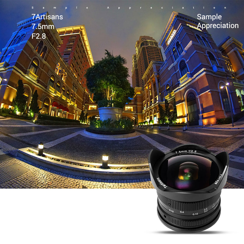7artisans 7.5mm F2.8 Lens for Sony, Panasonic, Fuji and Canon