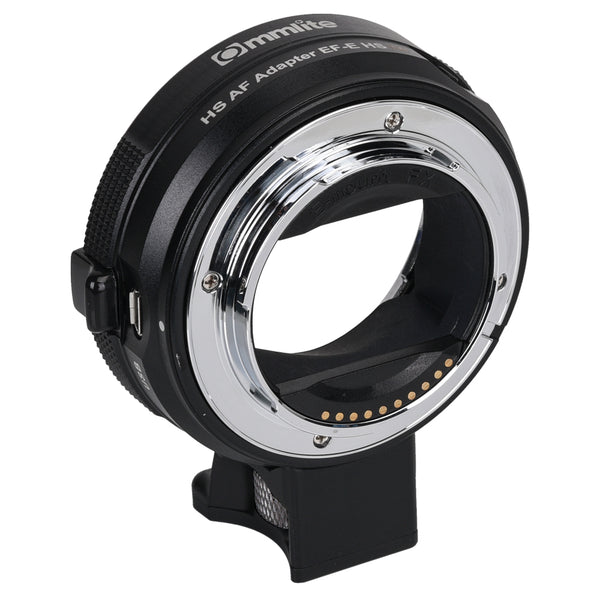 Commlite cm-EF-E HS High-Speed Electronic AF Lens Mount Adapter for Canon EF/EF-S Lens to Sony E-Mount Camera for Sony A9 A7RIII A7RII A6000 A6300 A6500,CDAF & PDAF Functions w/PERGEAR Cleaning Kit