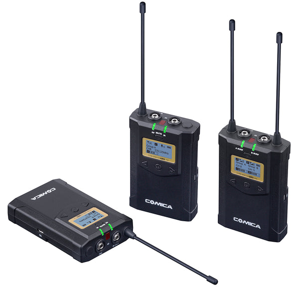 Comica CVM-WM100 Plus UHF 1-trigger-2wireless microphone