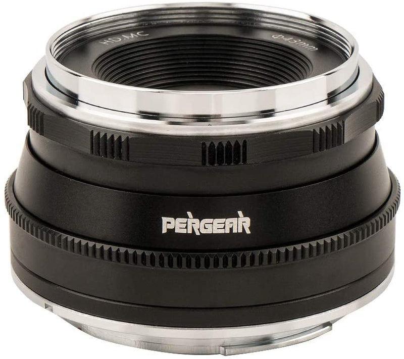 Pergear 25mm F1.8 Manual Focus Prime Fixed Lens for Fujifilm/Sony/ M4/3 Mount Cameras