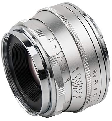 Pergear 25mm F1.8 Manual Focus Prime Fixed Lens for Fujifilm/Sony E-Mount/ 4/3 Mount Cameras