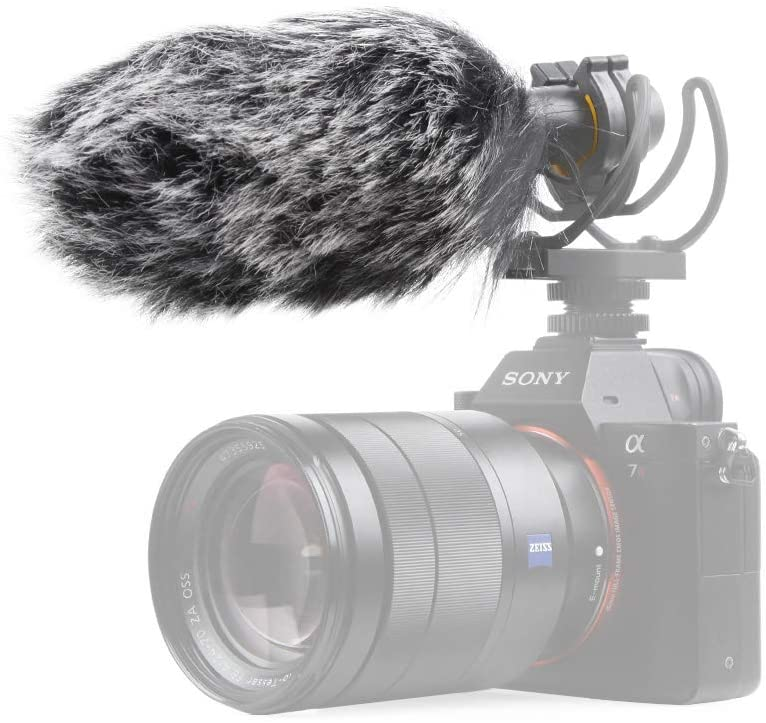 Pergear VideoMic Deadcat Windscreen - Outdoor Wind Cover Muff Mic Windshield