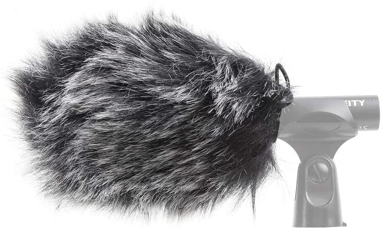 Pergear VideoMic Deadcat Windscreen - Outdoor Wind Cover Muff Mic Windshield Fur Filter for Deity D3, S-Mic 2S Microphone
