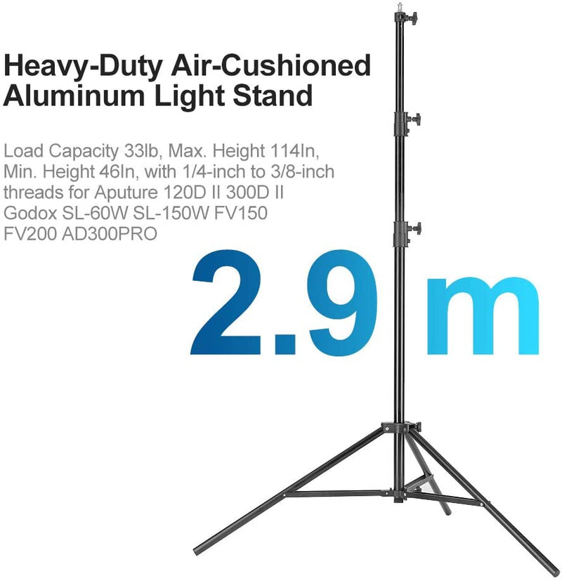 Laofas  Heavy-Duty Air-Cushioned Aluminum Light Stand